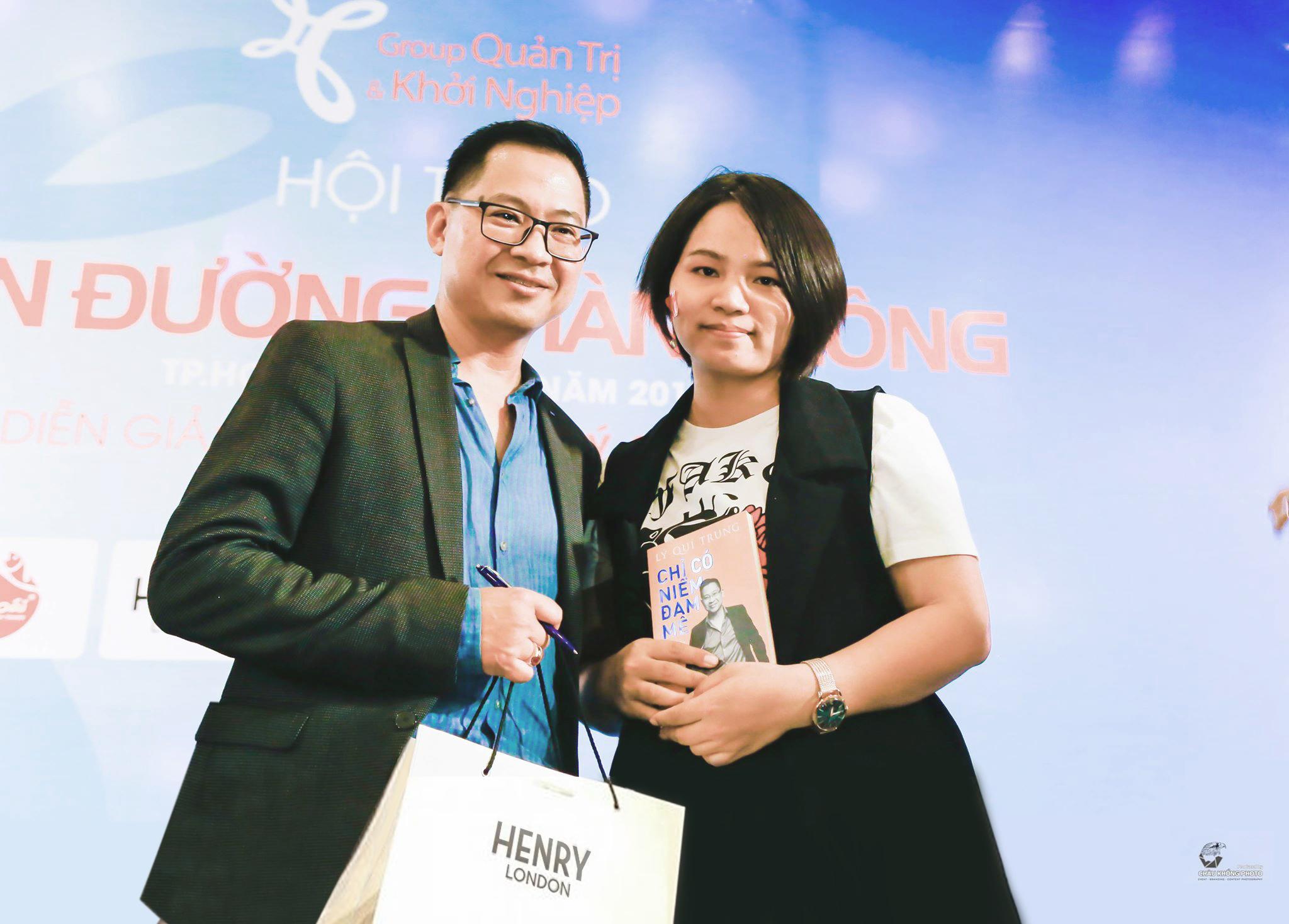 CEO Henry London Vũ Hải Yến cùng doanh nhân Lý Quí Trung