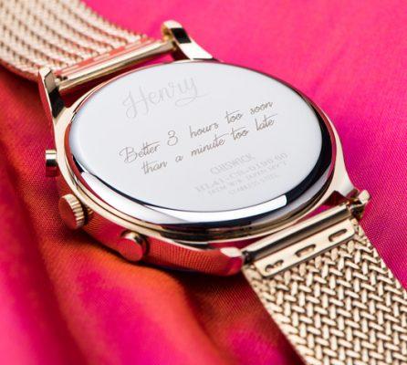 Chặm khắc đồng hồ Henry London
