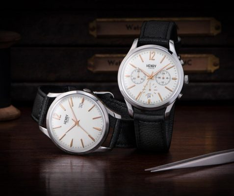 Đồng hồ dây da Henry London